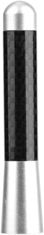 nero antenna radio 3a vite in fibra di carbonio per modifica universale dellauto Fydun Antenna sostitutiva per auto