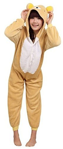 WOTOGOLD Animal Cosplay Costume Bear Unisex Adult Pajamas Brown, Medium -