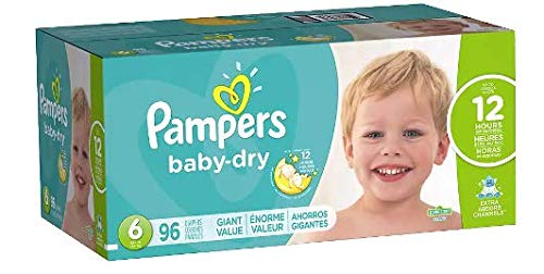 Pampers Baby Dry Diapers 3 layers Absorbency 3X drier than o