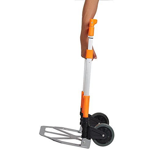 Lucky Tree Folding Hand Truck Aluminium Portable Dolly Cart with Wheels for Office Travel Home Use 170lbs Capacity by Lucky Tree (Image #4)