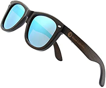 Skadino Unisex Wood Sunglasses with Polarized lenses