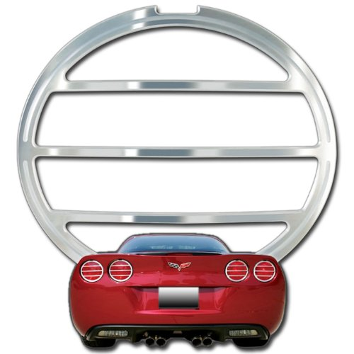 Corvette Taillight Bezels - Billet Aluminum Chrome 4 Pc. (Set) : C6,Z06,ZR1,Grand - Zr1 Light Tail