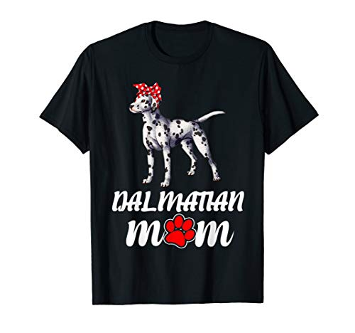 Bandana Dalmatian Dog Mom Women T Shirt ()