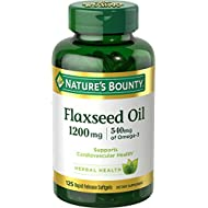 Nature's Bounty Flaxseed Oil 1200 mg, 125 Rapid Release Softgels, Pack of 2