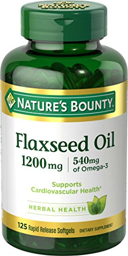 (Nature's Bounty Flaxseed Oil 1200 mg, 125 Rapid Release Softgels, Pack of 2)