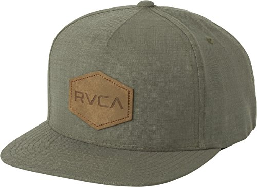 Green Cap Cloth (RVCA Men's Commonwealth Snapback Hat, Green Heather, One Size)