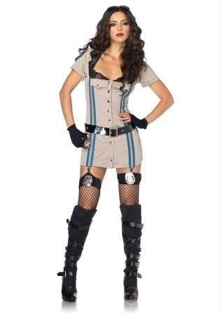 Highway Patrol Honey Costume - Large - Dress Size 12-14 - Highway Patrol Honey Costume
