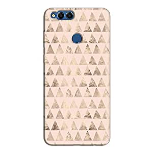 Cover It Up - Brown Light Pink Triangle Tile Honor 7x Hard Case