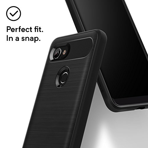 Large Product Image of Caseology for Google Pixel 2 XL case [Vault Series] - Slim Fit Tough Enhanced Drop Protection Textured Grip Design Case for Google Pixel 2 XL - Black