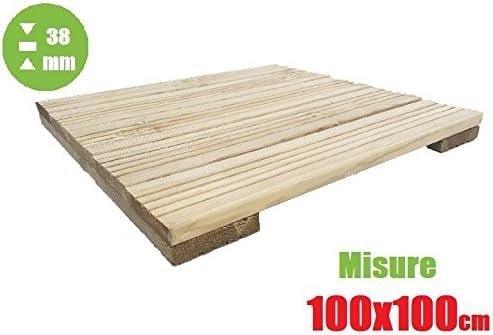 italfrom azulejo de exterior baldosa suelo jardín de madera de decking (100 X 100 X 3,8): Amazon.es: Jardín