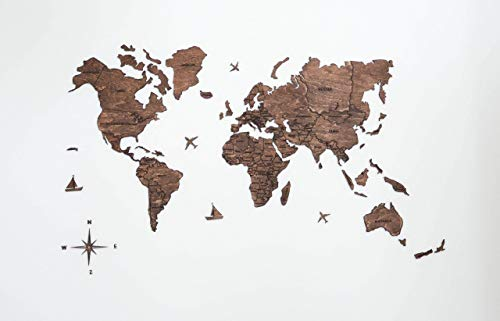 - Large Wood World Map of the World Travel map Wall world Cork Rustic Home decor Office decor Wall decor Dorm Living room Interior Fathers Day Gift - By Enjoy The Wood 100x50cm, 150x90cm, 200x102cm