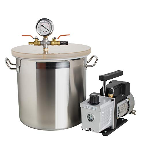 (US Shipping) 5 Gallon Stainless Steel Vacuum Degassing Chamber High...