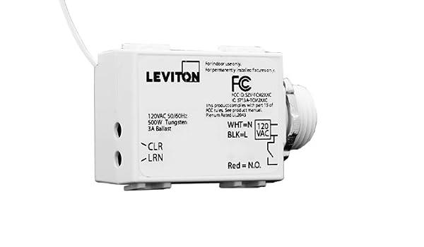 Leviton WST05 - 10 LevNet RF Rosca para cables 500 relé para el coche, 120 Vac: Amazon.es: Bricolaje y herramientas