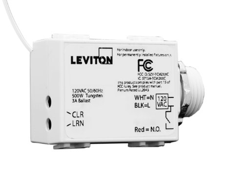 Cheap Leviton WST05-10 LevNet RF Threaded Mount 3-Wire 500 Relay Receiver, 120VAC