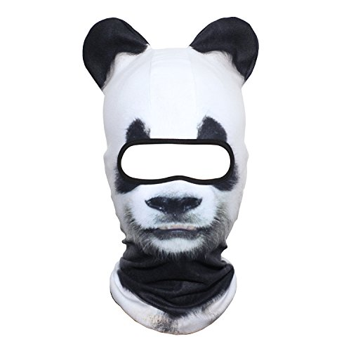 AXBXCX 3D Animal Ears Neck Warmer Fleece Thermal Windproof Hood Cover Face Mask Protection for Ski Snowboard Snowmobile Halloween Winter Cold Weather Panda MDD-01
