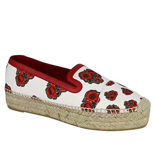 Alexander McQueen Women's Slip On Ivory Canvas Platform Sneaker 462291 9043 (EU 39 / US 8.5)