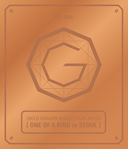 G-DRAGON BIGBANG - 2013 World Tour Live [ONE OF A KIND in SEOUL] BRONZE ver. CD + Photo Booklet + Standing Paper + Extra Gift Photocards Set by YG Entertainment