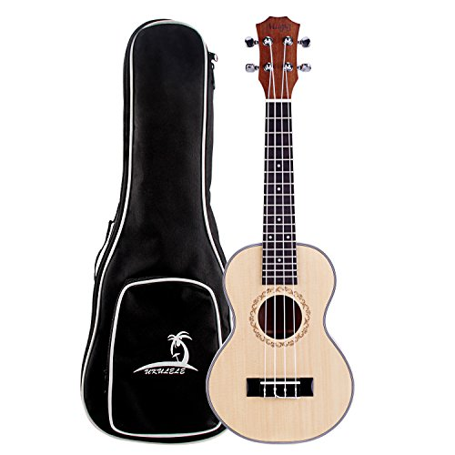 Mugig Retro Ukulele 4 Strings Instrument Nylon Strings Silver Geared Tuners Spruce Top Panel Rosewood Fretboard for Entry level (23)