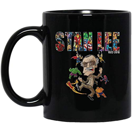 Ten Years Of Marvel R.I.P Stan Lee Coffee Mug - 11Oz Black Gift For Marvle Fans Friend Lover Colleagu Children Kids Wife Husband In Chirstmas Birthday Thanksgiving Boxing Day Valentine Mother's Day