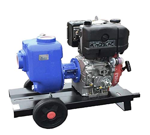 - JMS DA100W-A34 Gasoline Motor Pump Unit Composed by Gasoline Engine Self-Priming 2-Wheels Trolley with Handles