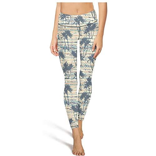(Shadfyvgf Colorful Womens Sport Yoga Pants Tribal Ethnic Palm Tree Yoga Leggings)