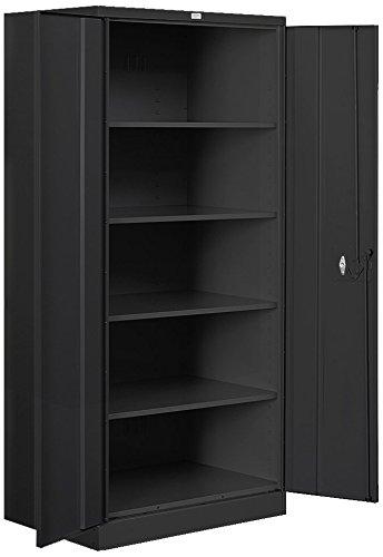 Salsbury Industries Heavy Duty Assembled Storage Cabinet, 78-Inch High by 24-Inch Deep, Black ()