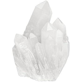 Top Plaza Healing Rock Crystal Clear Quartz Cluster Mineral Geode Druzy Specimen 1.85-3.5''(White Crystal Quartz Cluster)
