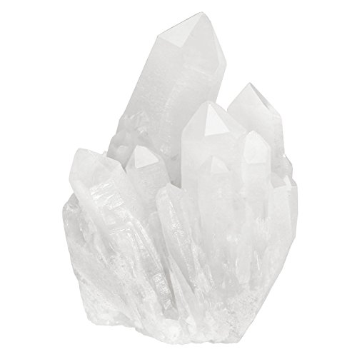 Top Plaza Healing Rock Crystal Clear Quartz Cluster Mineral Geode Druzy Specimen 1.85-3.5''(White Crystal Quartz Cluster) (White Quartz Clear)
