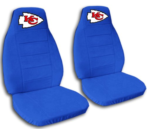 2 Medium Blue Kansas City seat covers for a 2007 to 2012 Chevrolet Silverado. Side airbag friendly. by Designcovers (Image #1)