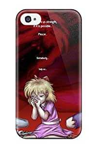 Durable Protector Case Cover With Earthbound Giygas Anime Game Games Mood Sad Crying Girl Blood Dark Hot Design For Iphone 4/4s