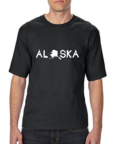 Ugo What to do in Alaska? Map AK Last Frontier Flag Home of University of Alaska Ultra Cotton Unisex T-Shirt Tall - Outlet In Vegas Shopping