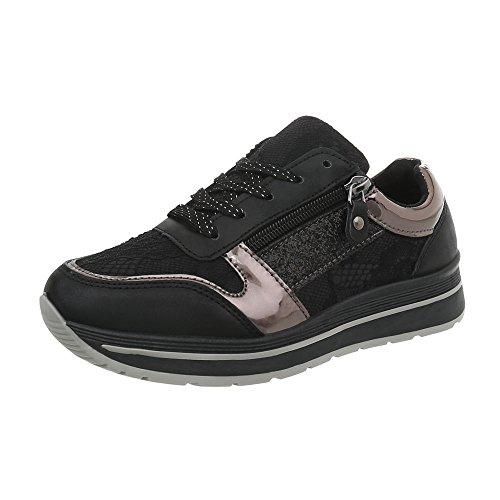 Zapatillas Zapatillas K Plano 120 para Design Ital Schwarz Low Zapatos mujer xwqfSEPHI