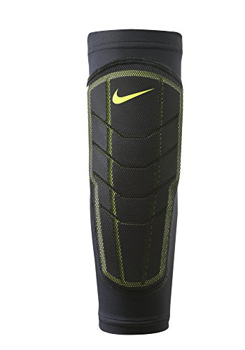 Nike Pro Combat Hyperstrong Padded Forearm Shivers (1 Pair, L/XL, Black/Volt)
