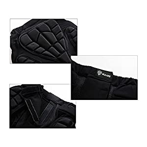 3D Padded Shorts Impact Protection Hip Butt Underwear Pad for Snowboard Skating Volleyball Motocross Cycling (Size XL)