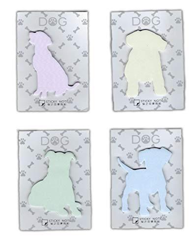 Puppy Dog Sticky Notes - Set of 4 - Unique Cute Sticky Notes