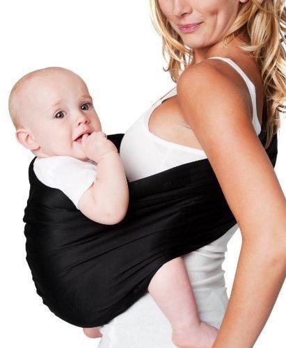 Hotslings Adjustable Pouch Baby Sling, Black, Large Color: Black Size: Large NewBorn, Kid, Child, Childern, Infant, - Sling Adjustable Baby Cotton