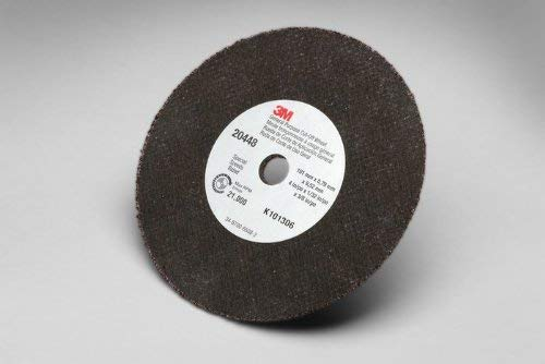 3M COW Aluminum Oxide Cutoff Wheel - Type 1 (Straight) - 4 in Dia 3/8 in Center Hole - Thickness 1/32 in - 21000 Max RPM - 20448 [PRICE is -