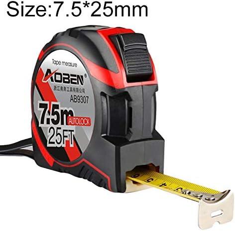 WZY Aoben引き込み式ルーラー測定テープポータブルプルルーラーミニ巻尺、長さ:7.5m幅:25mm
