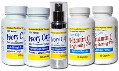 Skin Whitening Lightening System 2, IvoryCaps , Ivory caps , Skin Whitening Pills , Skin Lightening Cream , Vitamin C 100% Natural , No Side Affects