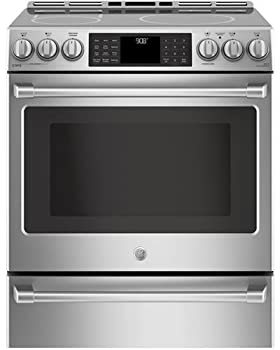 GE Cafe CHS985SELSS Slide-in Induction Range