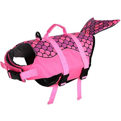 ESOEM Dog Style Life Jackets Swimming Saver with Superior Rescue Handel, Buoyancy Adjustable Sports Vest for Doggy
