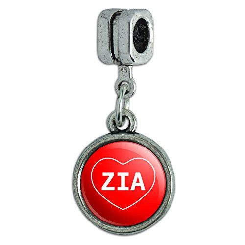 Italian European Style Bracelet Charm Bead I Love Heart Names Female Z - - Love I Zia