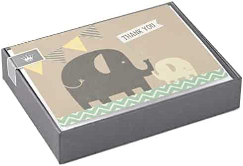 Hallmark Baby Thank You Cards, Elephants (10 Cards with Envelopes)