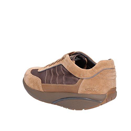 MBT Sneakers Hombre 42 EU Marrón Gamuza Textil