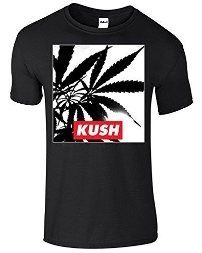 Hot Ass Tees Kush Pot Weed Smoking Novelty Funny T-shirt Black X-LARGE
