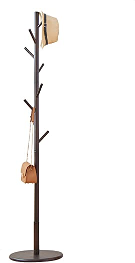 COAT RACK Stand, Tree, Solid Wooden Coat Hanger, Easy Installation Hanging Rack, for Hat, Clothes, Purse, Scarves, Handbags, Umbrella