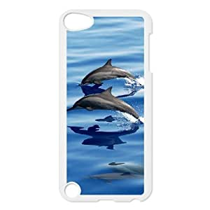 Hotsale Case for Ipod Touch 5 - The lovely dolphins ( WKK-R-519155 )