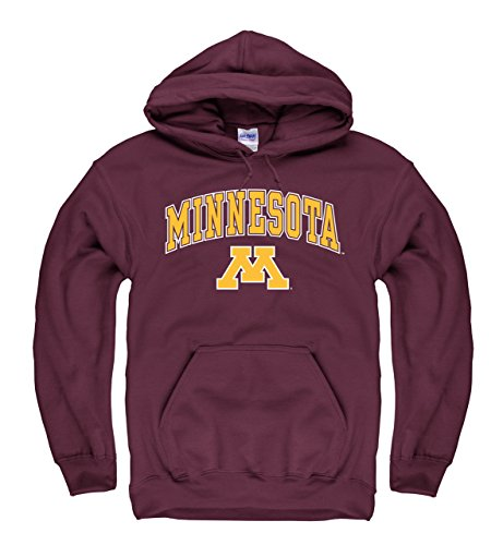 Minnesota Golden Gophers Adult Arch & Logo Gameday Hooded Sweatshirt - Maroon , (Minnesota Golden Gophers Womens Basketball)