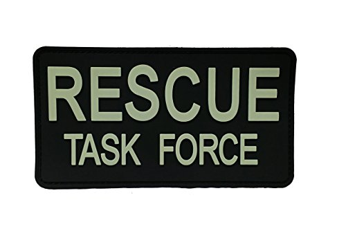 PVC RESCUE TASK FORCE PATCH-GLOW IN THE DARK