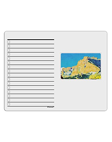 Mtn Water - TooLoud Colorado Snowy Mtns WaterColor To Do Shopping List Dry Erase Board